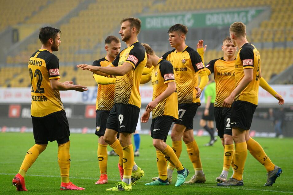 Das Viertelfinale im Sachsenpokal hatten die Dresdner im Rudolf-Harbig-Stadion gegen Bischofswerda gewonnen.