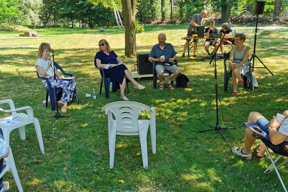 Die Diskussionsveranstaltung der sächsischen SPD fand im Internationalen Garten in Meißen statt.