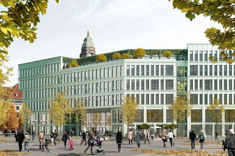 Entwurf Nummer 2: Blick über den Ferdinandplatz auf den Haupteingang