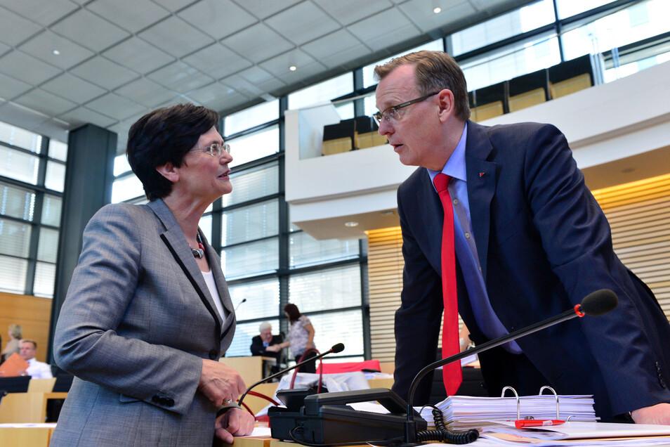 Bodo Ramelow hatte Christine Lieberknecht als Regierungschefin des technischen Rumpfkabinetts vorgeschlagen.