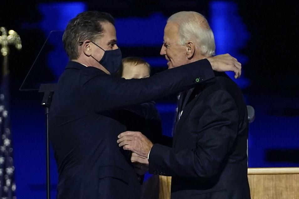 Joe Biden und  sein Sohn Hunter.