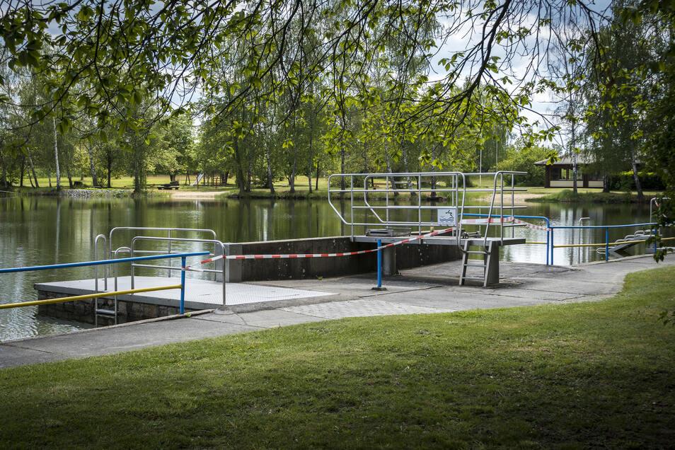 Das Naturbad In Goltzscha ist auch de facto fertig für den Saisonbetrieb.