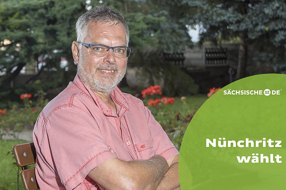Der Nünchritzer Jürgen Schmidt (SPD) will bei der Wahl am 26. September Bürgermeister seiner Heimatgemeinde werden.