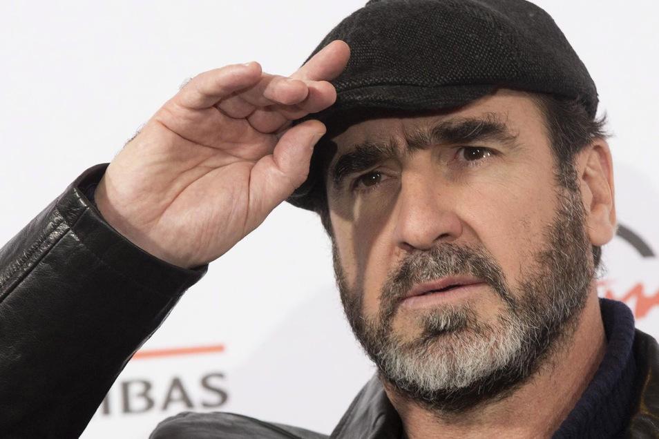 Der ehemalige französische Fussballspieler und Schauspieler Eric Cantona.