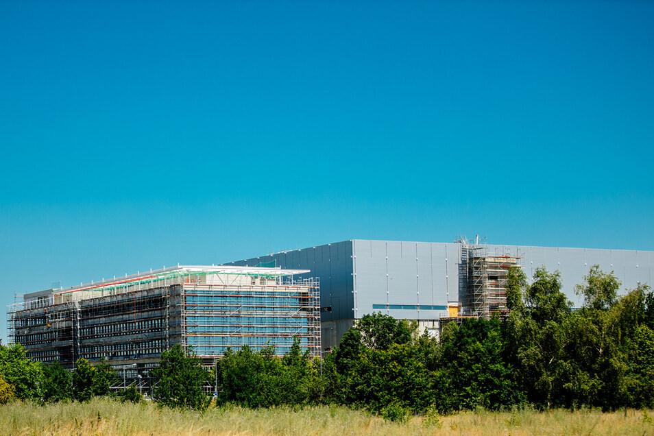 Blick auf die Baustelle Bosch-Baustelle in Dresden.