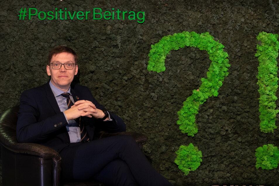 Jan Böttger, Niederlassungsleiter der Deutschen Bank in Dresden, liegt Nachhaltigkeit am Herzen.