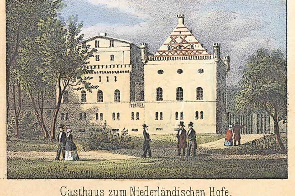 """Das ist der ehemalige Gasthaus """"Niederländischer Hof""""."""