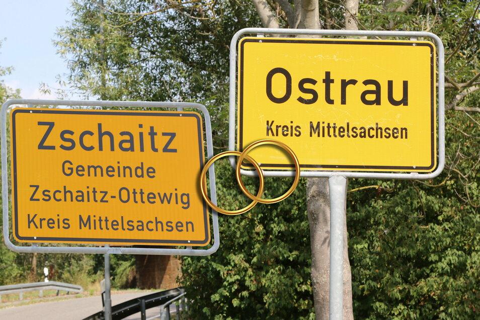 """Die Gemeinden Zschaitz-Ottewig und Ostrau kommen sich immer näher. Der Gemeinderat von Zschaitz hat nun den Grundsatzbeschluss zur """"Aufnahme von Gesprächen mit Ostrau zum Zweck des Abschlusses einer Vereinbarung zur Vereinigung"""" gefasst."""