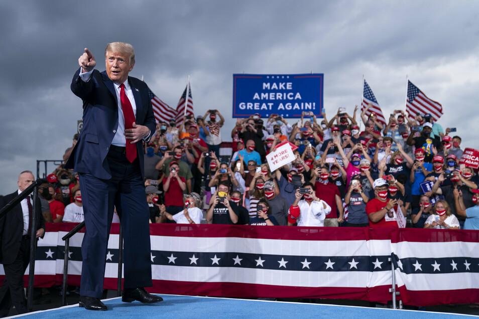 Unter Druck: US-Präsident Donald Trump - hier bei einer Wahlkampfveranstaltung in North Carolina.