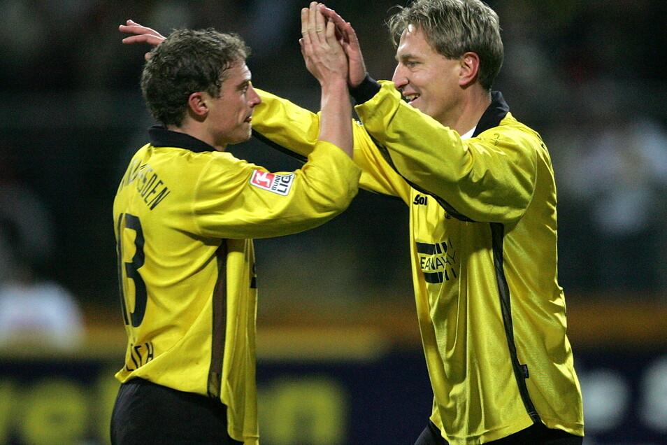 Gemeinsam mit Christian Fröhlich spielte Steffen Heidrich in der Saison 2004/05 in der 2. Bundesliga.