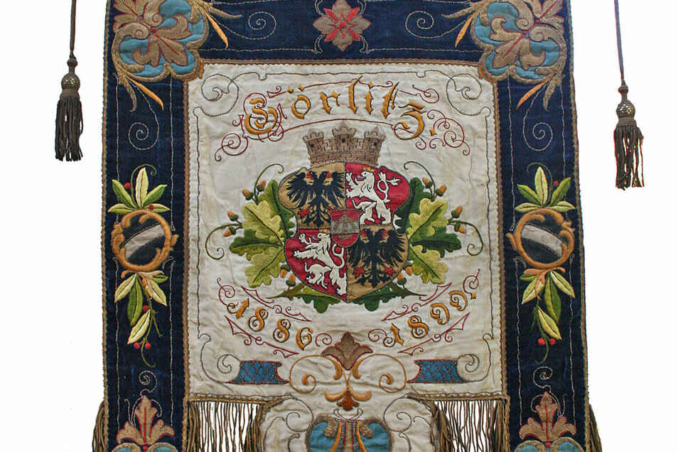 Auch diese Vereinsfahne bewahrt der der Görlitzer Postsportverein PSV mit berechtigtem Stolz auf.