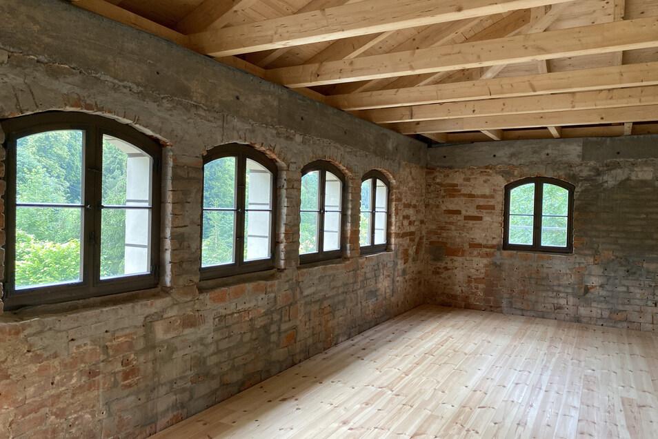 Auch das überdachte Balkonzimmer in der zweiten Etage des Nordanbaus ist nach Sanierungsarbeiten wieder zugänglich.