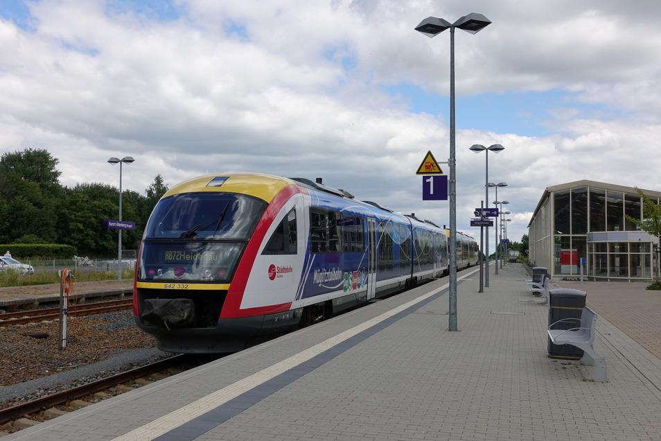 Ein Desiro-Zug der Städtebahn Sachsen. Solche Triebwagenzüge betreibt auch die MRB.