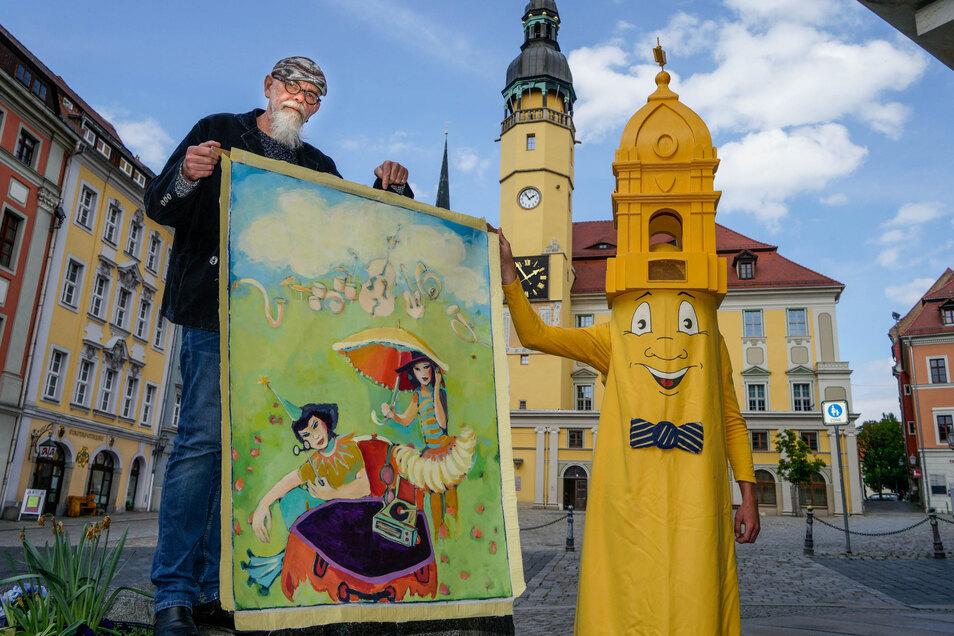Der Bautzener Frühling soll in diesem Jahr doch nicht ausfallen. Organisator Andreas Hennig zeigt das diesjährige Plakatmotiv.