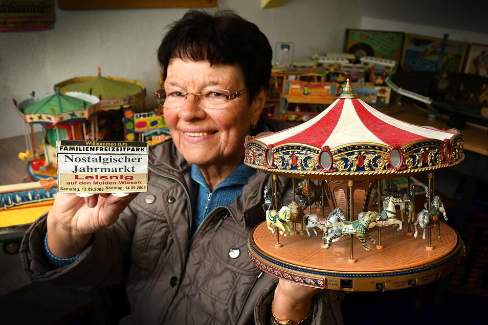Dieter Scheller hat in seinem Leben allerlei Zirkus- und Rummelszenen nachgebaut, aber auch einen Heimatberg. Diesen Nachlass des Leisnigers bewahren Monika und Claus Dieter Andrä in ihrem privaten Museum genauso auf wie die Puppen, die Heinz Kotte hinter