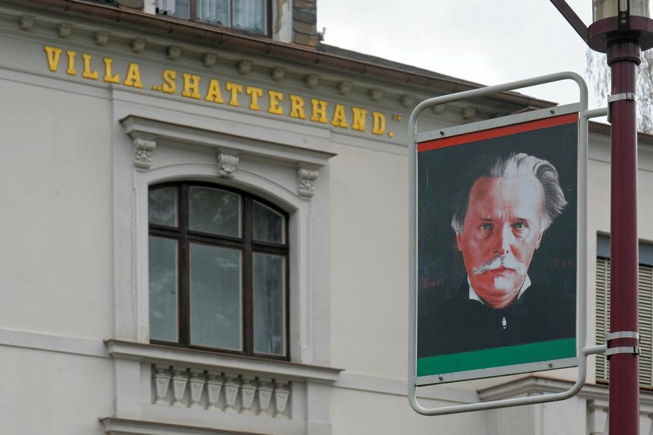 """In der """"Villa Shatterhand"""" lebte Karl May von 1896 bis zu seinem Tod 1912. Heute ist hier das Karl-May-Museum."""