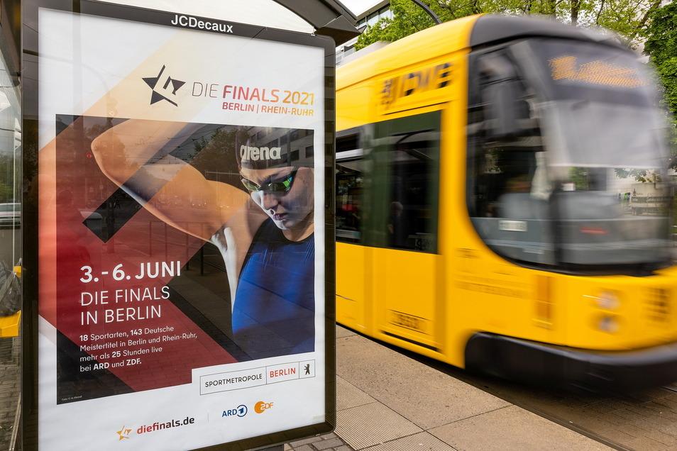 Die Dresdner Schwimmerin Leonie Kullmann wirbt auch in Dresden für die Finals, startet dort aber gar nicht.