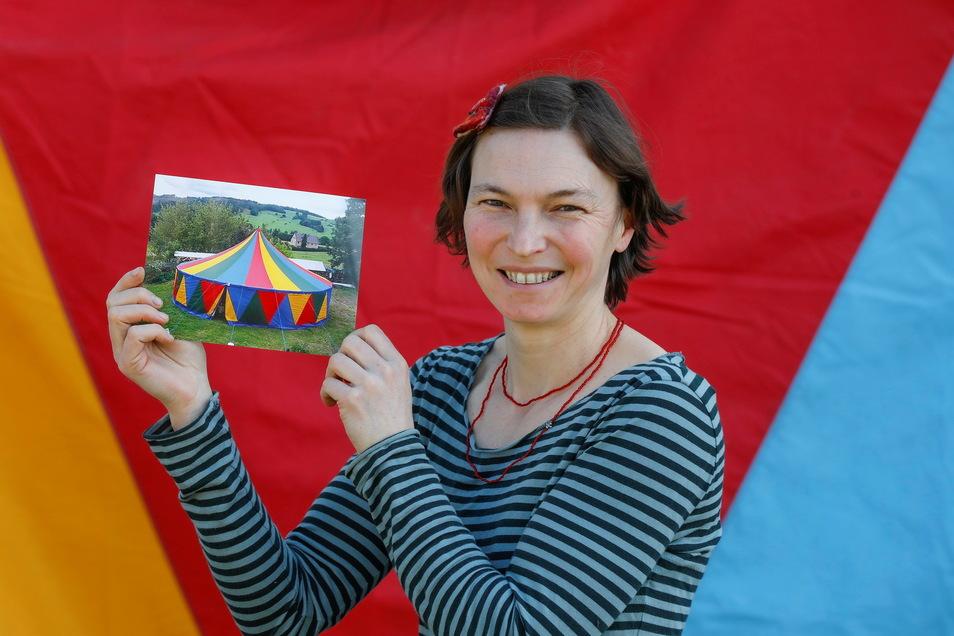So ein Zelt will Gemeindepädagogin Anke Eichhorn anschaffen.