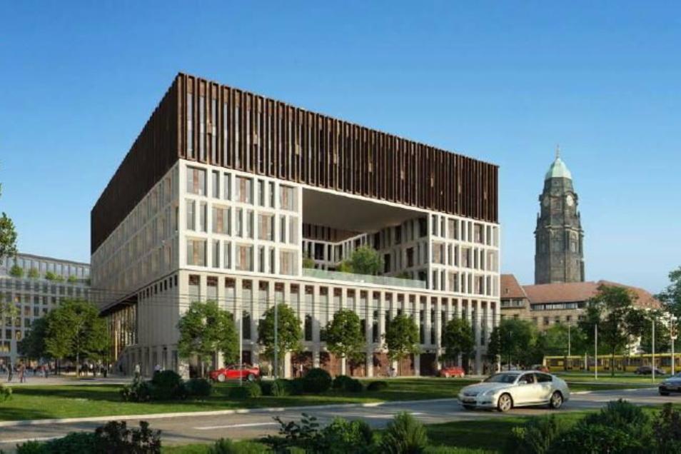 Zwei Entwürfe für das neue Verwaltungszentrum sind noch im Rennen. Die Dresdner habe eine klare Meinung, welcher ihnen besser gefällt.