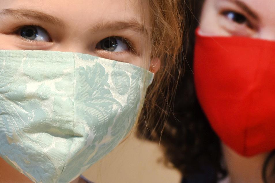 Wichtig: Mundschutzmasken für Kinder in den Schulen.