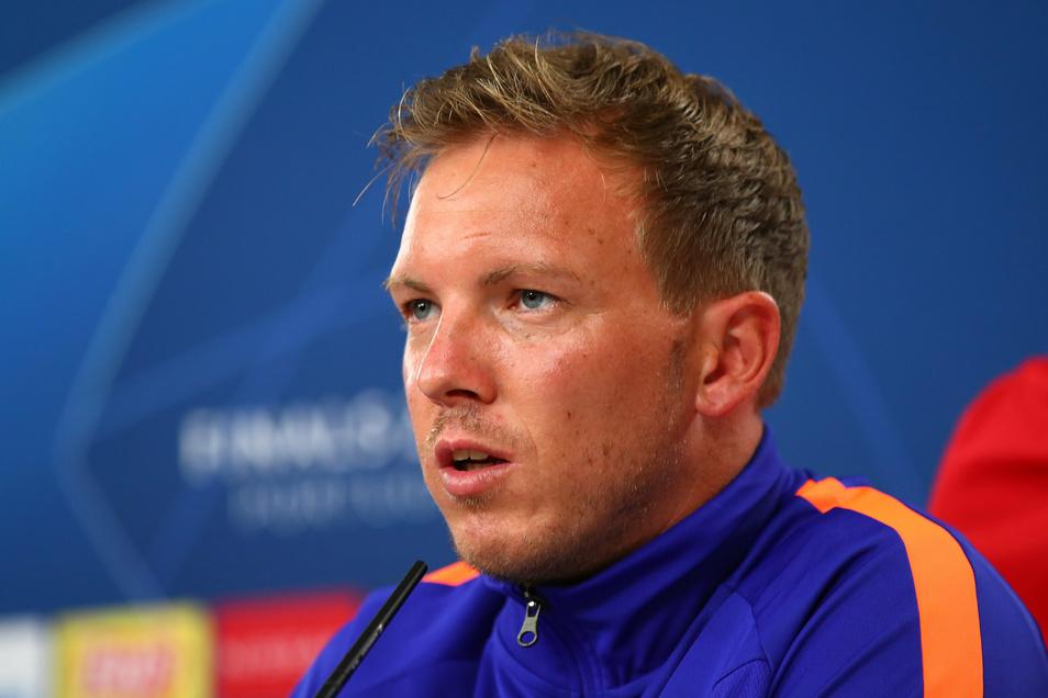 Julian Nagelsmann, Trainer von RB Leipzig, muss jetzt die Lehrstunden von Paris Saint-Germain verarbeiten.