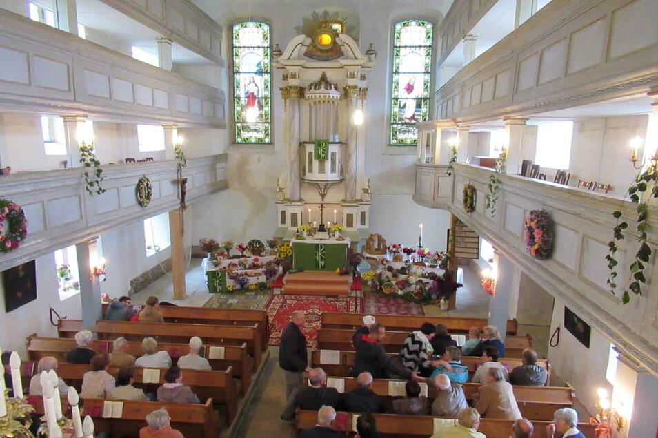 Zum Erntedankgottesdienst feiern die Christen am Sonntag in der Kirche Marbach auch den Abschluss weiterer Sanierungsarbeiten.