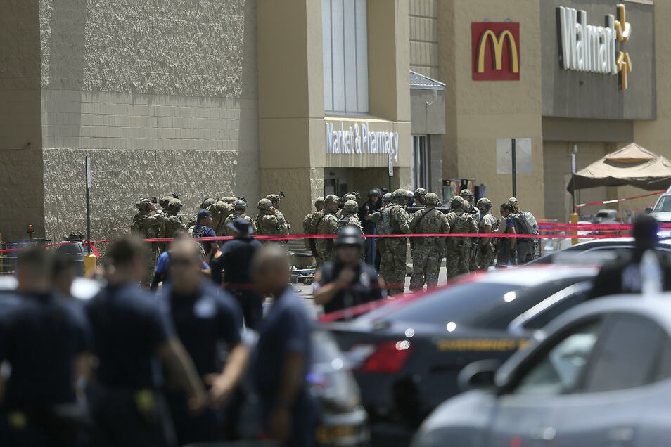 In diesem Einkaufszentrum in El Paso kamen 20 Menschen durch Schüsse ums Leben.