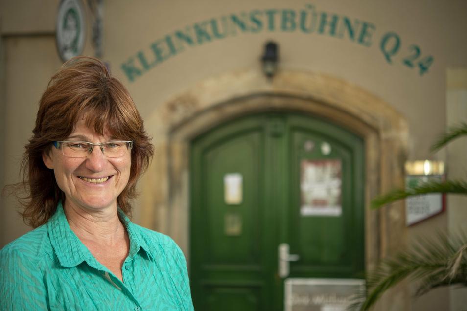 Petra Schneider ist die Geschäftsführerin des Vereins Kleinkunstbühne Q 24 in Pirna.