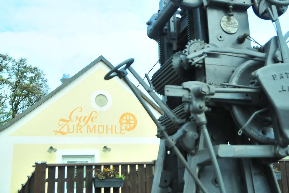 """Das Café """"Zur Mühle"""" in Zabeltitz: Mit Jahresbeginn sucht Eigentümer Timmy Held einen Nachmieter."""