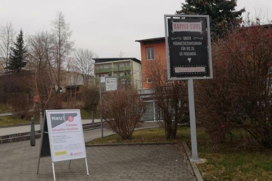 """Im """"Kaffetippl"""" am Oberen Viebig 3a in Olbersdorf."""