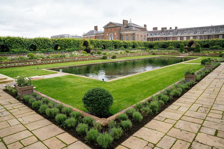 Der Sunken Garden auf dem Gelände des Kensington-Palasts, wo Diana zuletzt lebte.