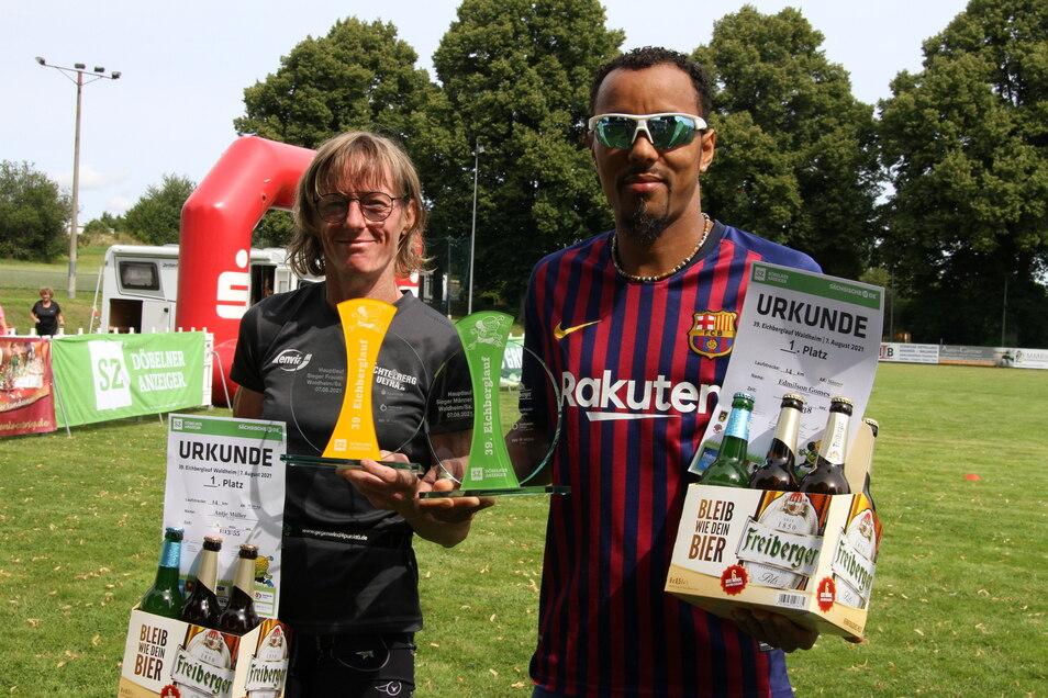 Antje Müller und Edmilson Gomes haben sich jeweils den Gesamtsieg über 14 Kilometer geholt.