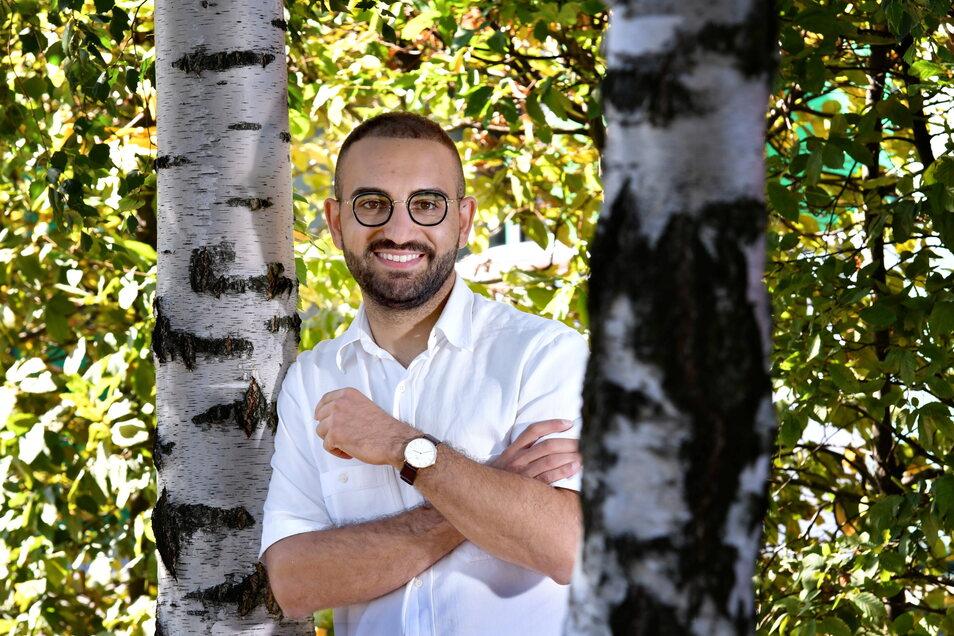 Kassem Taher Saleh kommt aus dem Irak und will für Dresden und die Grünen in den Bundestag.