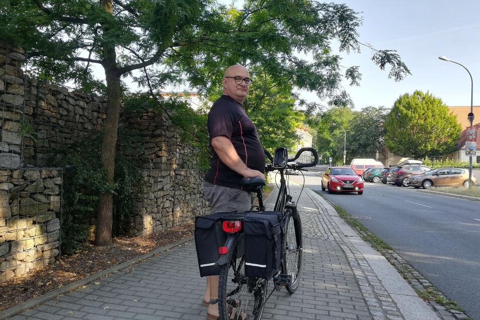 Christian Dittmann (li.) hat es inzwischen schon geschafft. Er fuhr von Süden nach Norden, nach Prenzlau.