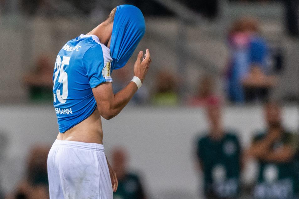 Sören Reddemann vom Chemnitzer FC mag sich nicht mehr mit ansehen, was beim CFC vor sich geht.