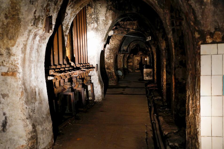 Die historischen Kellergewölbe der Zittauer Brauerei.