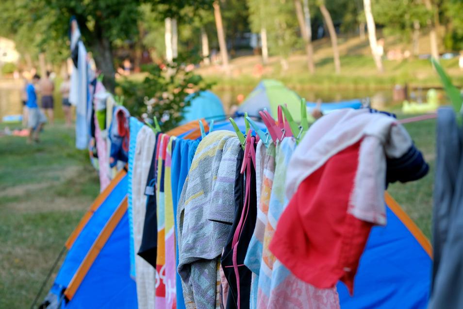 Der Campingplatz in Oberau ist in diesem Jahr so gut besucht wie noch nie. Es musste Interessenten auch schon abgesagt werden.