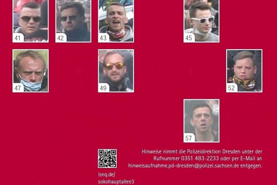 Nach acht Verdächtigen wird derzeit noch gesucht.