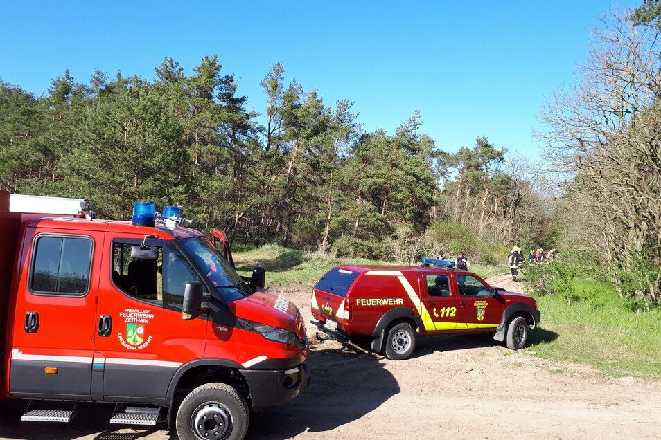 Mehrere Feuerwehren aus der Gemeinde Zeithain waren im Einsatz.