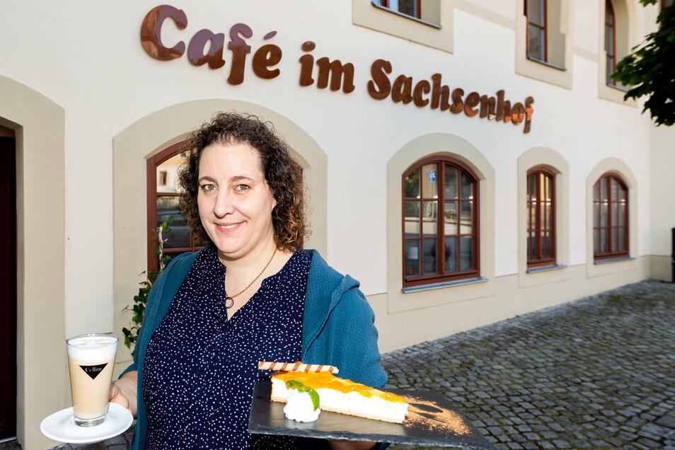 Hier gibt es nicht nur Kaffee und Kuchen: Sandra Lehmann eröffnet im Sachsenhof in Königstein ein Café und Bistro.