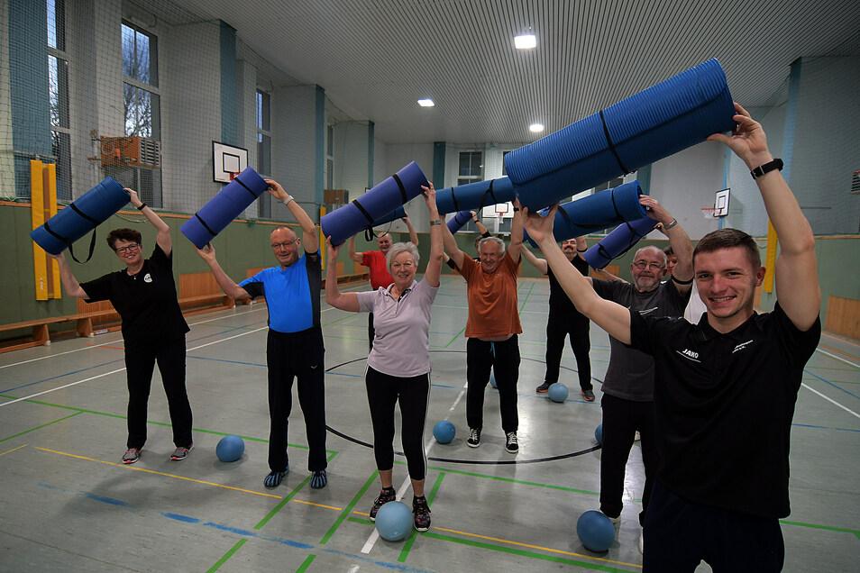 Die Herzsportgruppe des Vereins Gesundheitssport Döbeln trainiert jeden Dienstag in der Sporthalle Friedrichstraße.