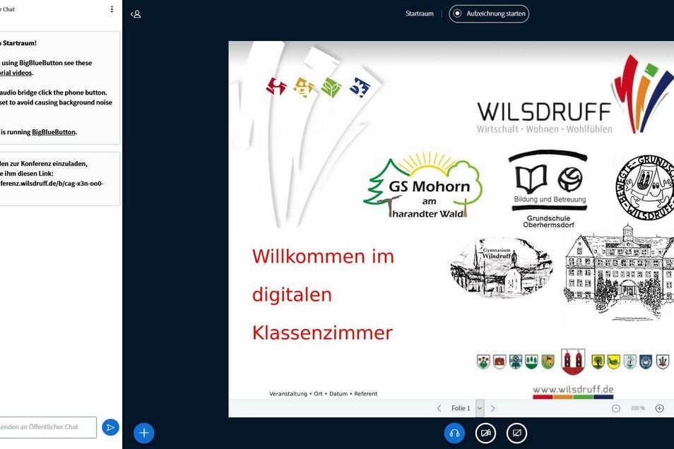 So sieht die Startseite des digitalen Angebots aus, das die Stadt den Schülern und Lehrern anbietet.