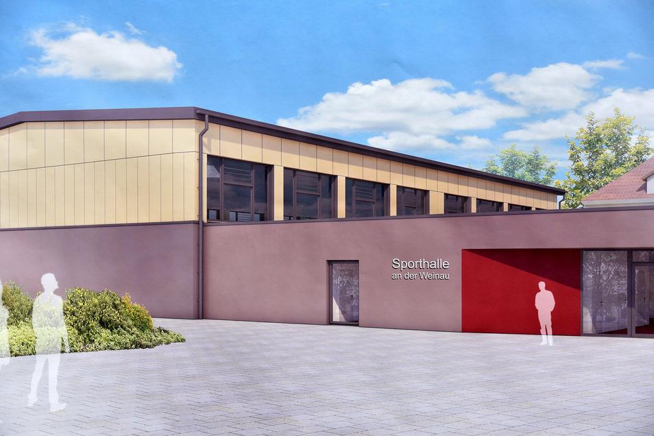 So soll die neue Schulsporthalle an der Zittauer Weinau-Schule aussehen.