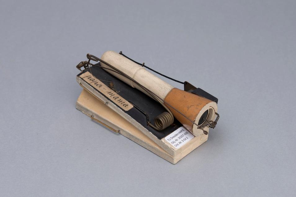 Künstliche Sprachlaute entstanden schon Anfang des 20. Jahrhunderts durch dieses Gerät.