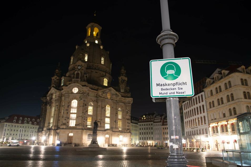 Das öffentliche Leben bleibt in Sachsen bis zum 10. Januar 2021 heruntergefahren.