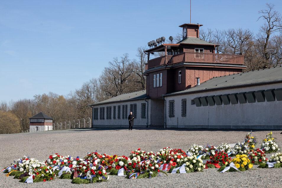 Blick auf die KZ-Gedenkstätte Buchenwald in Weimar.