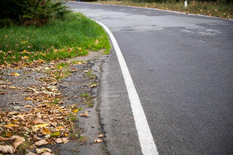 Einen Gehweg findet man entlang der Dorfstraße nicht. Hier, an dieser unübersichtlichen Stelle, ist es für Fußgänger besonders gefährlich.