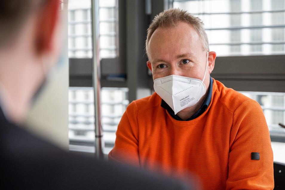 Redaktionsleiter Sebastian Beutler interviewte zum 75-jährigen Bestehen der SZ nicht - sondern wurde interviewt.