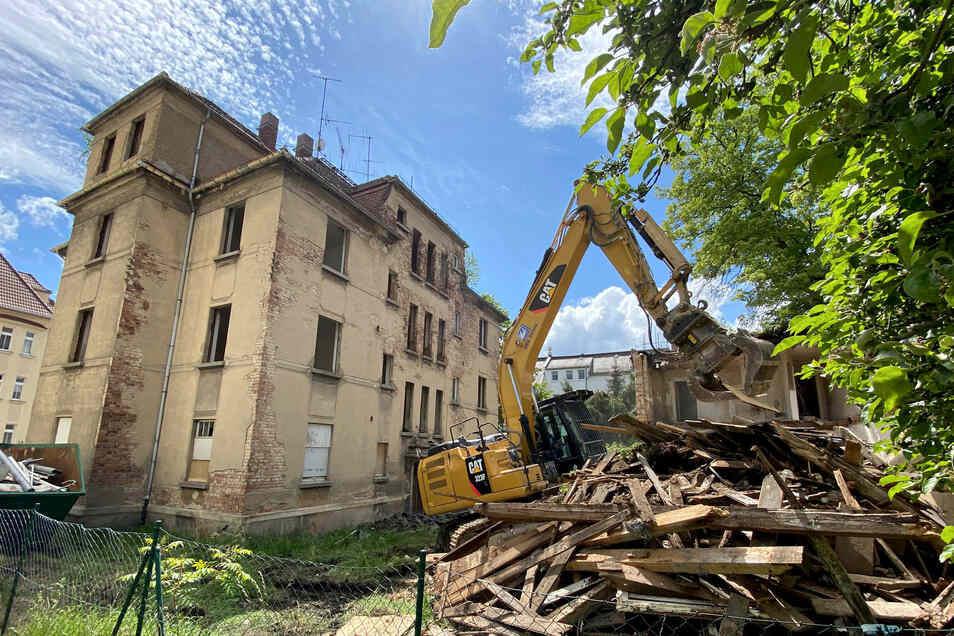 Die Friedrich-Haupt-Straße 1b ist eines der Häuser, die 2020 in Zittau abgerissen wurden.