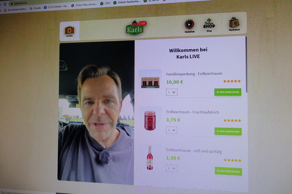 Robert Dahl, Chef von Karls, ging in der Nähe von Bitterfeld am Sonntagabend live auf Sendung. Bis nach Döbeln hatte er es nicht geschafft.